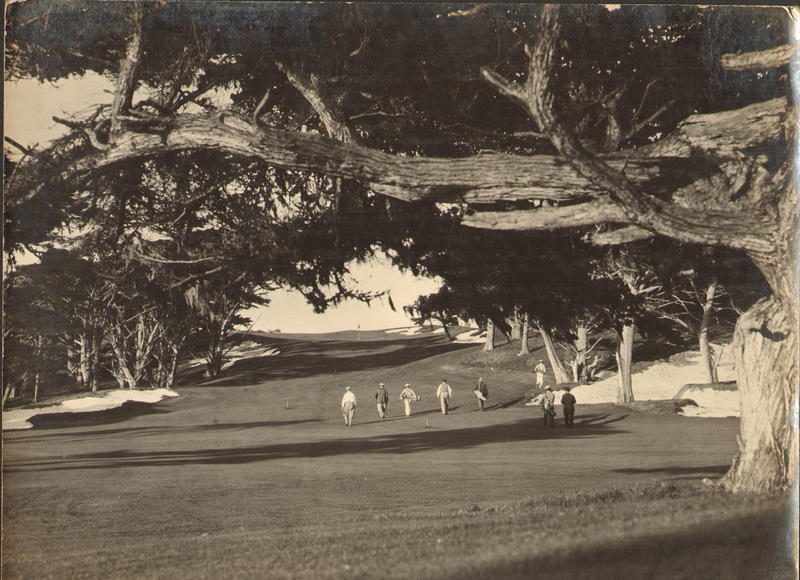 Alister MacKenzie 18th hole Cypress Point inaugural round